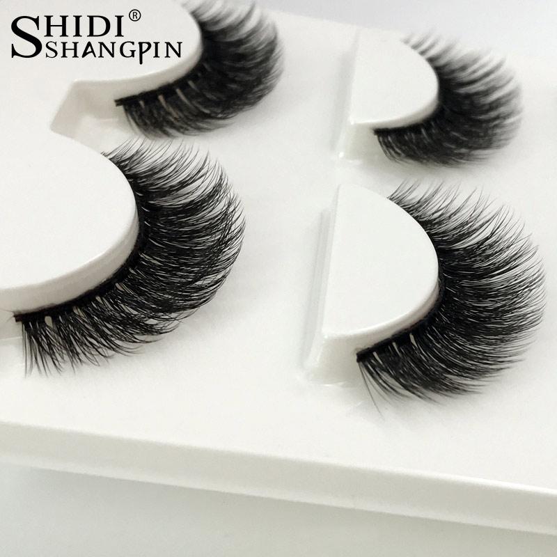 3 Pares natural cílios postiços maquiagem grosso 3d real mink cílios macio pestana extensão falsificados eye lashes longa cílios vison 3d