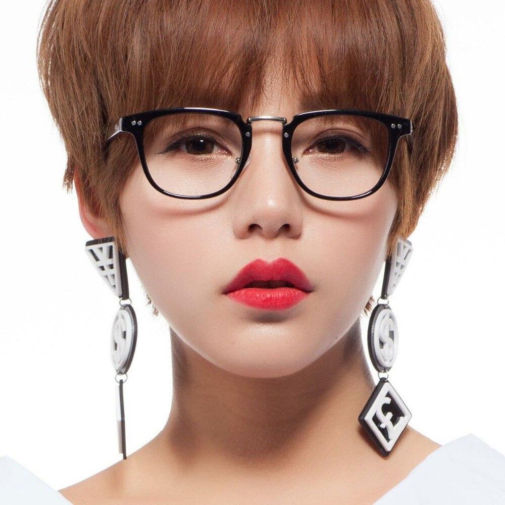 fashion women eyeglasses square vintage glasses frame black computer nerd glasses clear lens optical glasses men