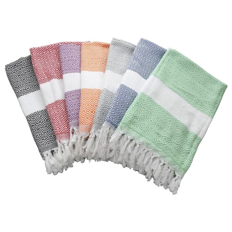 Summer Cotton Quick Dry Shower Bath Towels Striped Beach towel Toalla playa Fouta towels Tassel Scarf