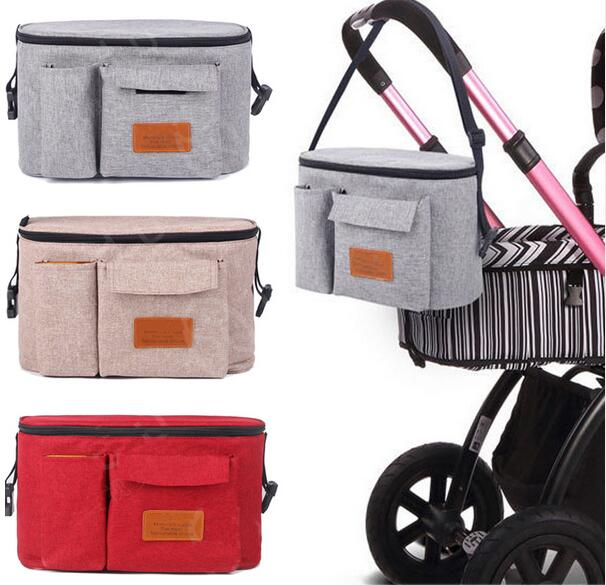 New Updated High Quality Mother Expanded Bag Strollers Organizer Baby Basket Pushchair Diaper Nappies Bottle BAG Drop Shipping
