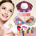 ONLY New Cosmetics Kits 29 Color Makeup Palette Combination + 7 PCS Makeup Brushes for Blush Eye shadow Eyelash Comb
