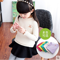 2017 new spring children's knitted shirt kids girls sweater