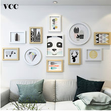 11pcs Nordic Photo Frames Set Home Decoration Wedding Love Wooden Pictures Frame Photo Best Gift Wall Photo Frame Set(China)