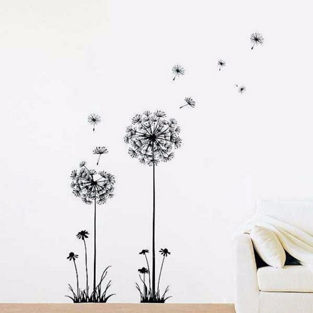 online get cheap wall decal dandelion aliexpress com alibaba group homestyle creative dandelion wall decal sticker removable mural pvc home art decor 5020 china