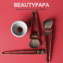 Beautypapa Triangle Design Makeup Brush Set Goat Hair Blush HighLight EyeShadow Handmade Professional