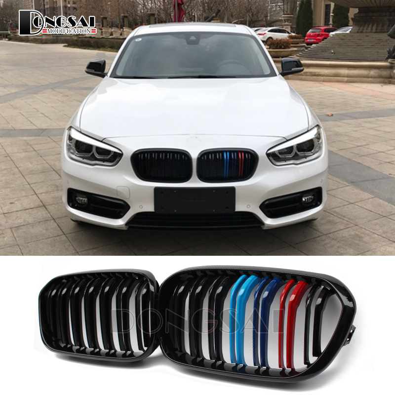 Ф20 ЛКИ углеродного волокна АБС почек решетка бампера для BMW 1 серия f21 116д 118i 120w пористость, 120д M135i 2015 2016 2017 2018