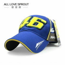2017 NEW blue hat cap moto gp 46 moto racing baseball cap hat adjustable casual trucket hat(China)