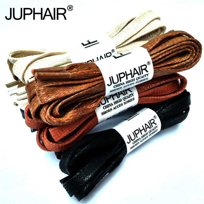 JUP 8 Pair 100% Cotton Shoestring Flat Waxed Colored Shoelaces Unisex Flats Leather Boot Laces Martin Boots Sneakers Shoes Laces jup 50 pairs round laces 60 180cm casual leather high quality waxed shoelaces boot sport cable rope oxford sneaker unisex string