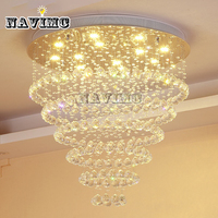 Modern Luster De Crystal Chandelier Large Cristal Lighting Fixtures Hotel Projects Staircase Lamps Restaurant Cottage Lights