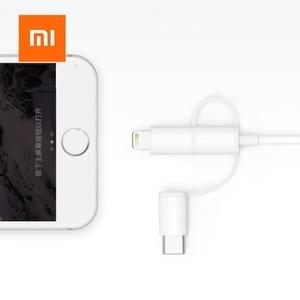 Image 4 - Xiaomi המקורי 3 ב 1 נתונים כבל 100 cm MFI עבור ברקים מיקרו USB סוג C הסמכה רשמית עבור אנדרואיד ו iphone