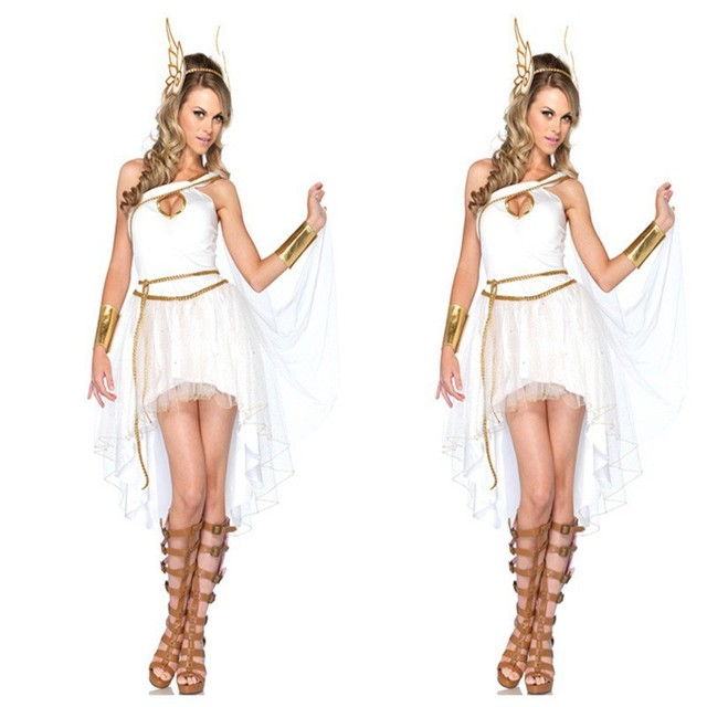 Hot Selling Adult Halloween Women Costume Greek Goddess Costume Cute ...