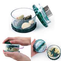 Delige 1 pc multi-funcional alho imprensa chopper caixa ps fora & folhas de ferro alho gengibre twister cozinha ferramenta vegetal