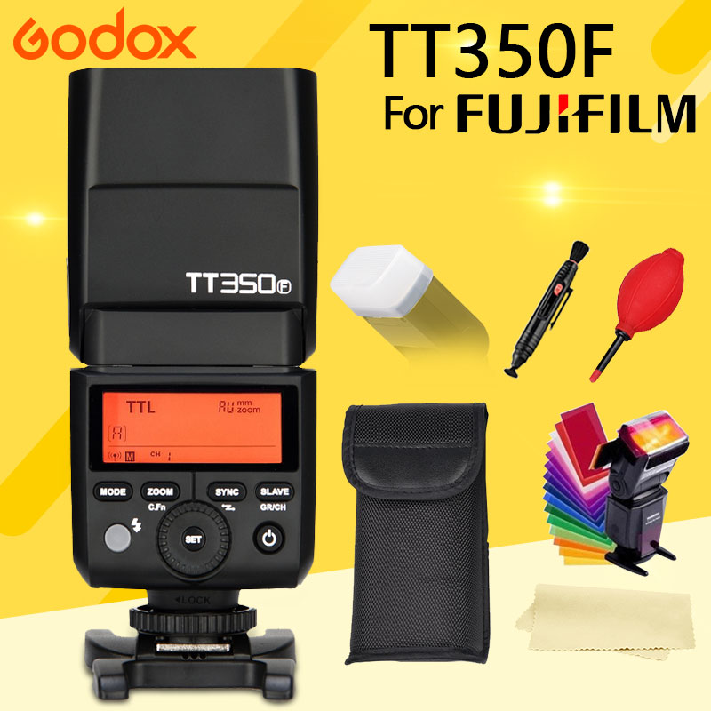 GODOX TT350 on Camera Flash Speedlite for Fujifilm cameras 2 4G HSS 1 8000s TTL GN36