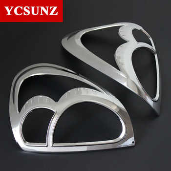 Car Chrome Strips Styling Accessories Lamp Decoration Product ABS Rear Lamp Cover For Mitsubishi L200 Triton 2006 - 2014 Ycsunz