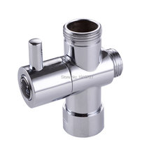 "Bagnolux Chrome Silver 3 Way Shower Head Diverter Valve  G3/4"" Three Way Copper adapter Valve for Toilet Bidet T  Adapter Valve"