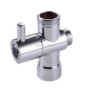 "Image 1 - Bagnolux Chrome Silver 3 Way Shower Head Diverter Valve  G3/4"" Three Way Copper adapter Valve for Toilet Bidet T  Adapter Valve"