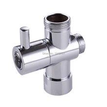 """Bagnolux Krom Gümüş 3 Yollu Duş Başlığı ayrıştırma vanası G3/4 """"Üç Yollu Bakır adaptör Vanası Tuvalet Bide için t adaptör Vana"""