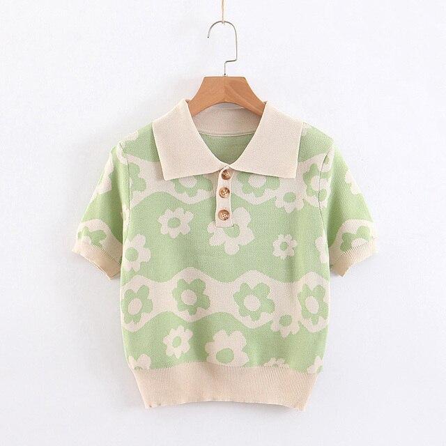 Za Flower Knitted Short...