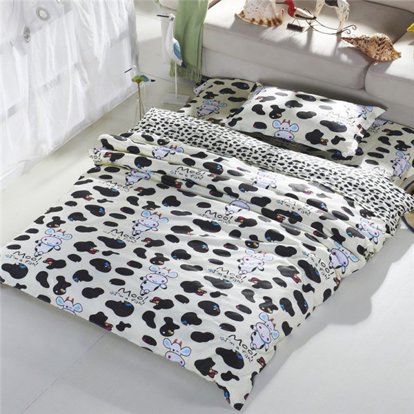 Popular cow print bedding buy cheap cow print bedding lots for Housse couette vache