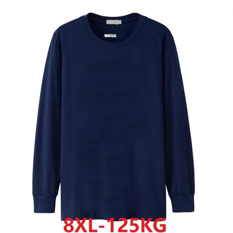 Winter Men's T-<font><b>Shirt</b></font> 5XL 8XL Long Sleeve Cheap <font><b>Big</b></font> Sale Autumn XL Large Size 7XL 6XL T-<font><b>Shirt</b></font> Cotton Home Black T-<font><b>Shirt</b></font> image