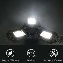 60W Led Deformable Lamp Garage Light E27 LED Corn Bulb Radar Home Lighting High Intensity Parking Warehouse Industrial Lamp