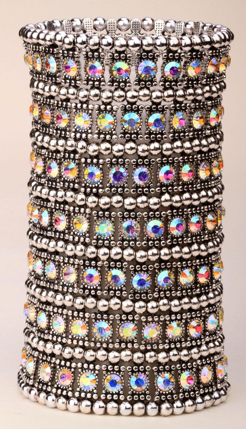 Mitmekihiline veniv mansett käevõru naiste kristall pulm pruudi - Mood ehteid - Foto 4