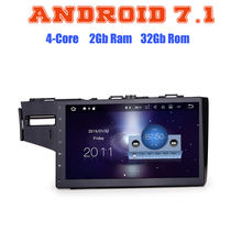 Quad core Android 7.1 car radio gps player for honda fit 2014-2016 with 2G RAM wifi 4G USB radio RDS audio stereo SAT