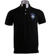 2017 Game Resident Evil 7 Biohazard Umbrella Logo Mens Casual Short Sleeve Cotton Black Embroidered Polo