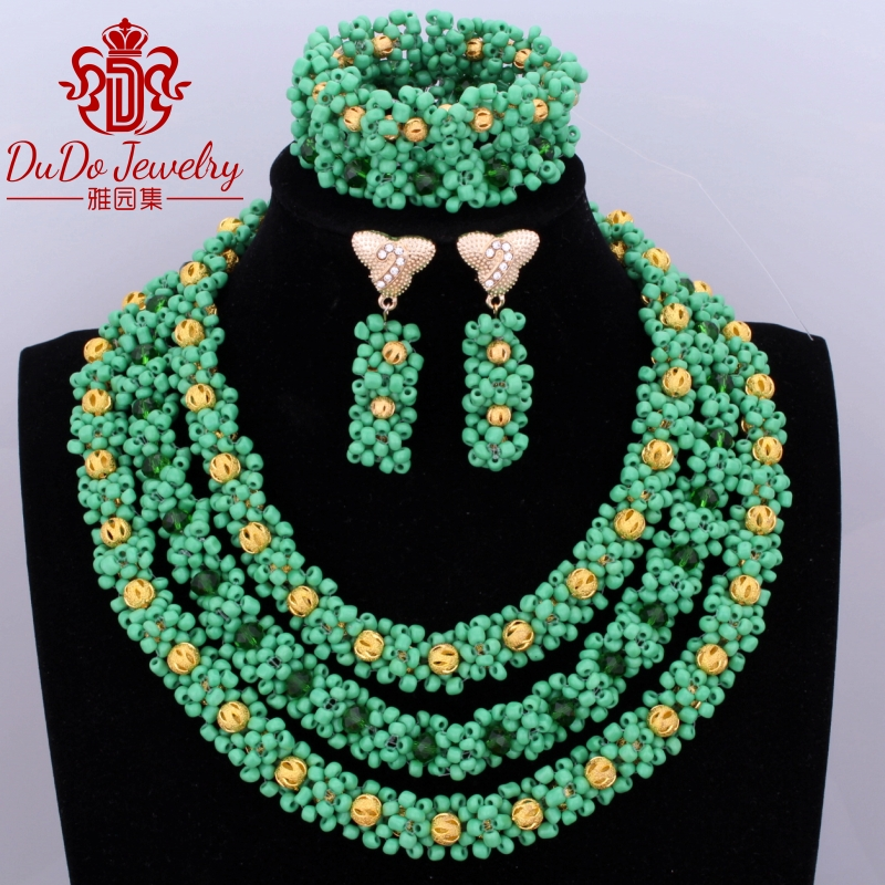 Free Shipping Green Flowers Gold Color Balls Womens African Beads Nigerian Wedding Party Jewelry Supplier Store 2017 FashionFree Shipping Green Flowers Gold Color Balls Womens African Beads Nigerian Wedding Party Jewelry Supplier Store 2017 Fashion