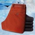 U & shark 2016 moda inverno calças de veludo grossas calças casuais masculinos dos homens em linha reta de alta qualidade velo calças quentes dos homens marca