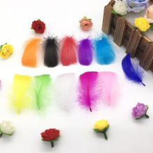 Натуральные перья 100 шт./лот 4-7 см 1-2 дюйма маленькие плавающие гусиные перья цветные перья, пух для украшения