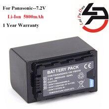 5800 mah 100% nuevo de reemplazo de batería de la cámara para panasonic vw-vbd29 vw-vbd58 hc-mdh2 hc-mdh2gk-k hc-mdh2m aj-px270
