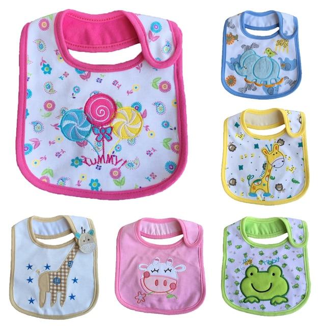 3PCS /LOT Mixed sales cotton baby bibs waterproof infant bibs(send by boys' or girls') aTRK0010
