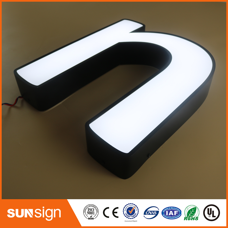 Factory Outlet Outdoor Waterproof Super High Brightness Acrylic Led Letter Signs For Restaurant