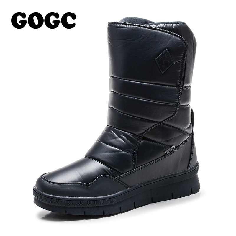 GOGC Fashion Waterproof Winter Shoes for Men Warm Winter Boots for Men Female Winter Boots Snow Brand Shoes Men Plus Size 41-46 libang 2018 brand men winter shoes warm male winter boots snow boots winter shoes for men fashion soft men shoes plus size 41 46