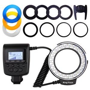 Image 3 - Travor 48PCS LED Macro Ring Sáng RF 550D Tốc Dành Cho Nikon Canon Olympus Pentax 8 Adapter Ring/4 Đèn Flash Máy Khuếch Tán Tinh Dầu