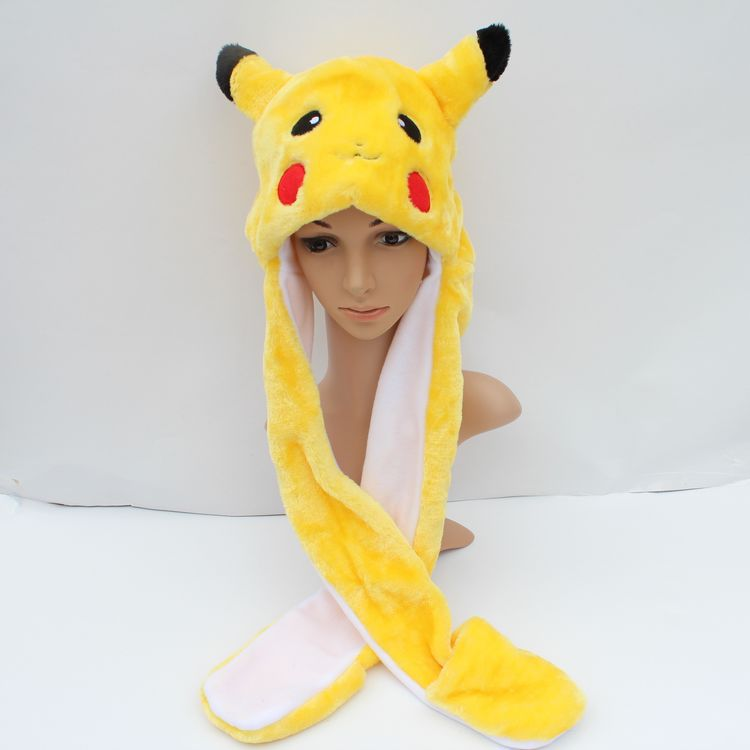 lovely plush pikachu hat with gloves stuffed long earflap warm hat toy  0520-in Stuffed   Plush Animals from Toys   Hobbies on Aliexpress.com  b0820ca3541