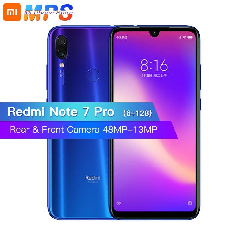 Nouveau Xiaomi Redmi Note 7 Pro 6 go 128 go téléphone Snapdragon 675 Octa Core 4000 mAh 6.3 goutte d'eau plein écran 48 + 13 MP Smartphone