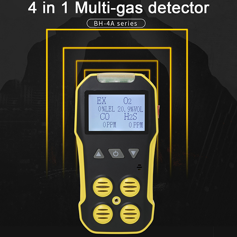 Muiti Gas Analyzer Combustible Carbon Monoxide CO Oxygen O2 H2S Gas Leak Detector Professional Toxic Harmful Gas Monitor