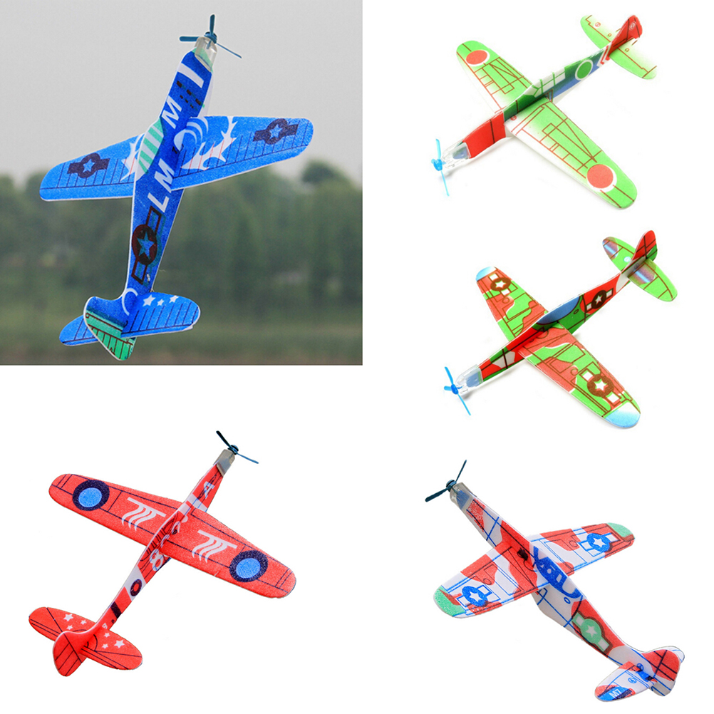 3Pcs for boy's gift DIY Assembly Flapping Wing Flight For Children Flying Kite Paper Airplane Model Imitate Birds Aircraft Toys image