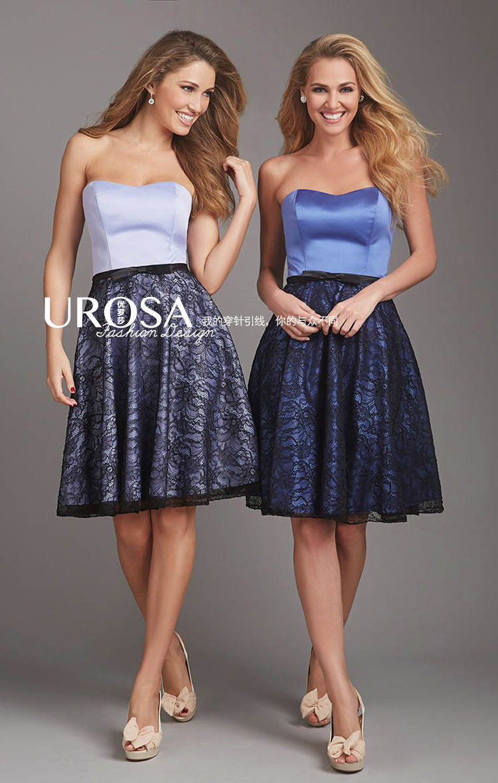 custom-made summer free shipping vestido de festa handmade 2018 new design hot sale lace mini formal party   bridesmaid     dresses