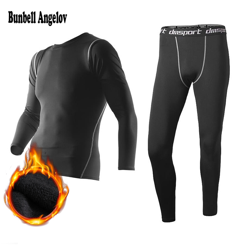 New Winter Thermal Underwear Pant+Clothing Men Quick Dry Warm Long Johns Set Male Warm Fitness Thermo Underwear Set(China)