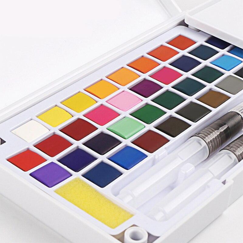 Ensemble de peinture aquarelle supérieure avec brosse à eau couleur vive Portable solide Pigment aquarelle pour fournitures d'art