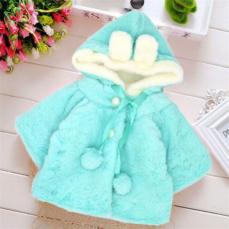 Del bambino vestiti della ragazza di inverno del bambino sveglio del coniglio cappotto rosa snowsuit ropa bebe invierno nina casaco infantil abrigo bebe chaqueta bebe