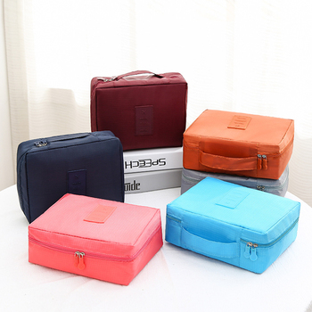 PURDORED 1 pc Unisex Travel Makeup Bag Solid Color Cosmetic Bag Travel Toiletry Washing Bag Beauty Bag Organizer Dropshipping