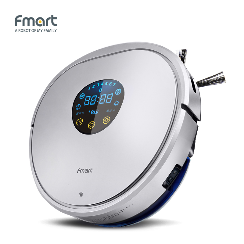 Fmart YZ-U1S Robot Vacuum Cleaner UV Dust Sterilize with 1000Pa Suction Automatic Sweeping Selfcharge Remote Control PYLOSOS 2017 new gift with uv lamp remote control lcd display automatic vacuum cleaner iclebo arte and smart camera baby pet monitor