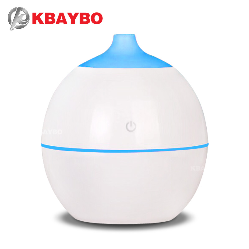 KBAYBO medium sized USB diffuser 130ml aroma ultrasonic air humidifier 7 color LED cycle soothing light coolmist for home office все цены