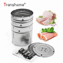 Transhome Ham Press Maker Machine 1PC Round Shape Stainless Steel Seafood Meat Poultry Tools Kitchen Cooking Tools for Party