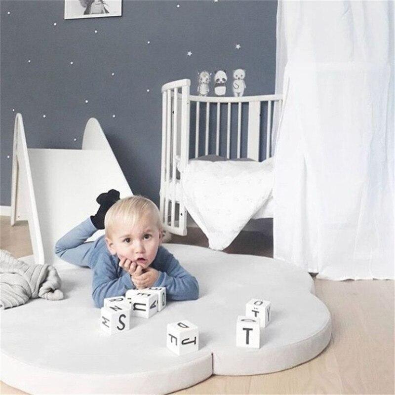 Bébé Gym Playmate enfants jouer tapis nuage tapis jeu ramper couverture tapis pour enfants jouer tapis pliable rond enfant chambre décor - 4