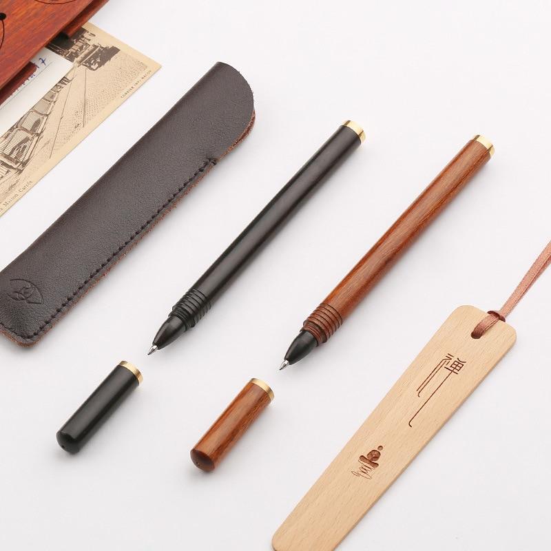 Business Gifts Solid Wood Signature Pen Brass Metal Gel Pen High-grade Custom Brass Ballpoint Pen for Writing Supplies ZXB56 german imports schneider signing pen gel pen elegant business 1pcs